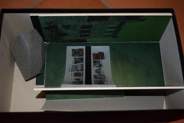 Das Modell der Ausstellung im Schuhkarton.