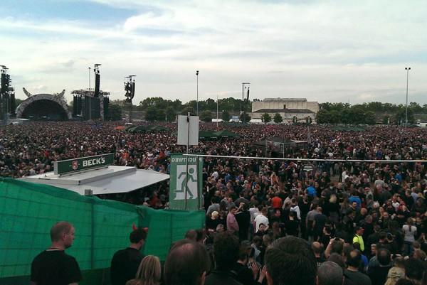Rockkonzert auf dem Zeppelinfeld, Mai 2015.