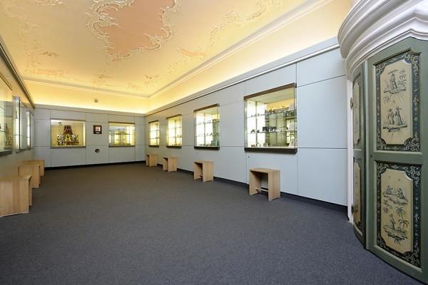 Die Rokoko-Decke im ersten Obergeschoss. Foto: Uwe Niklas