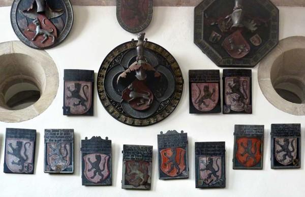 Totenschilder in der Tetzel-Kapelle. Bildnachweis: Theo Noll