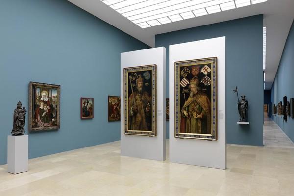 Die Kaiserbilder von Albrecht Dürer in den Ausstellungsräumen des Germanischen Nationalmuseums. Bildnachweis: Germanisches Nationalmuseum