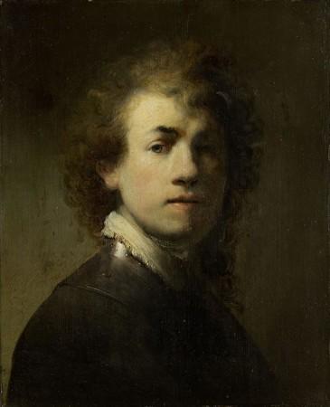 Rembrandt Harmensz. van Rijn: Selbstbildnis mit Halsberge, um 1629 (Detail). Dauerleihgabe der Stadt Nürnberg seit 1875/77. Bildnachweis: Germanisches Nationalmuseum