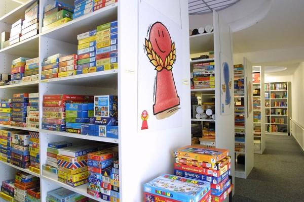 Die Räume des Spielearchiv in der Marburger Barfüßerstraße. Bildnachweis: Gerd Andratschke